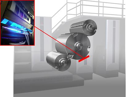 連接ユニット部のLED-UV設置イメージ