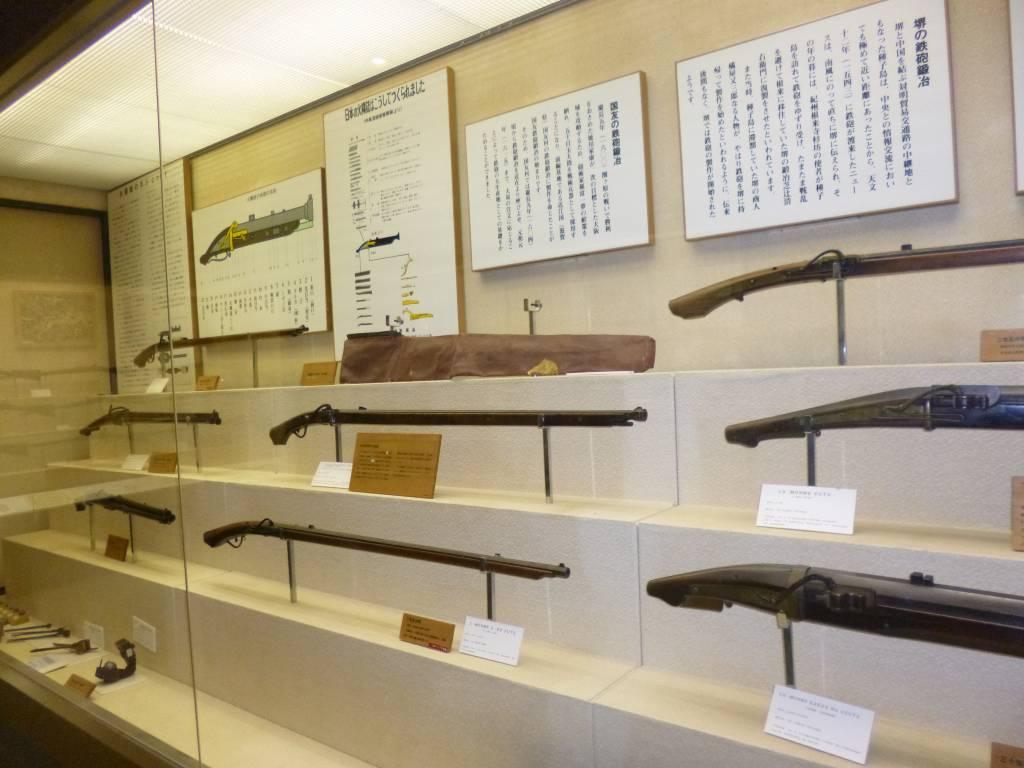 種子島博物館には数々の鉄砲が展示されていました