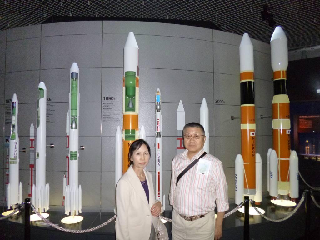展示されたロケット