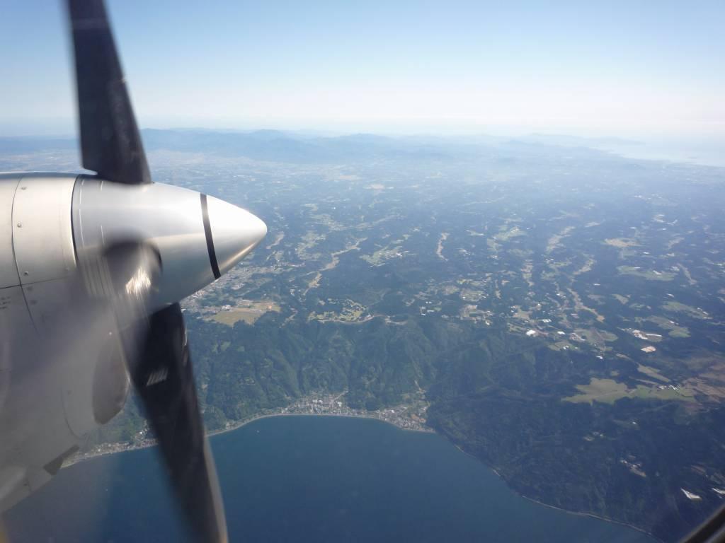 鹿児島からプロペラ機で空路種子島へ
